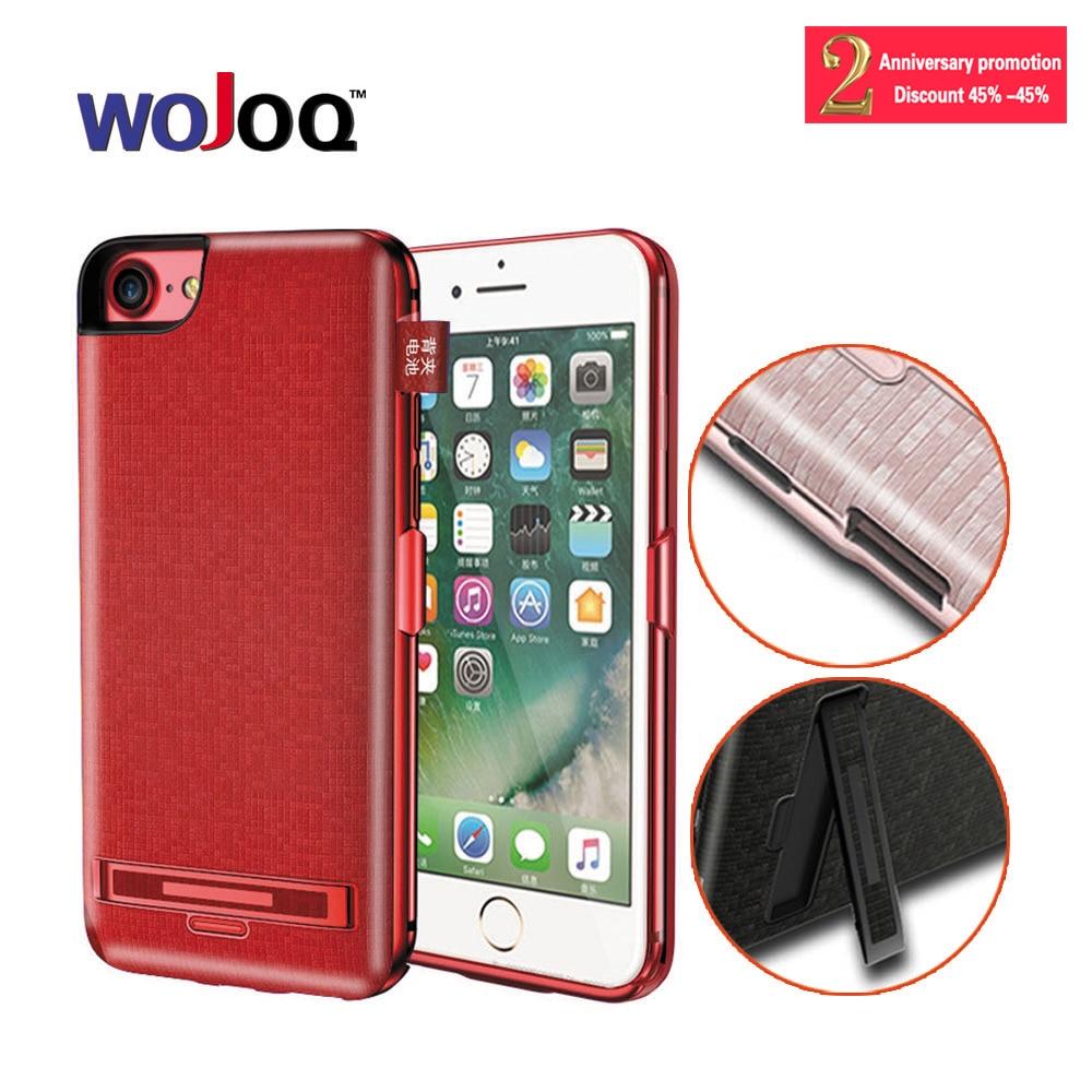 WOJOQ Chargeur Cas Pour iPhone 7 6 6 s Plus 5000/7500 mAh Puissance banque Cas Ultra Mince Mince Externe Pack Batterie De Secours de Couverture de Cas