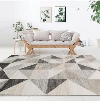 Motif Geometrique Style Nordique Tapis Grande Taille Salon Chambre The Table Tapis Et Tapis Rectangulaire Antiderapant Tapis De Sol