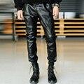 2017 мужчин кожаные штаны большой ярдов мужские брюки зима утолщение мужчина случайно брюки S-6XL певица одежда