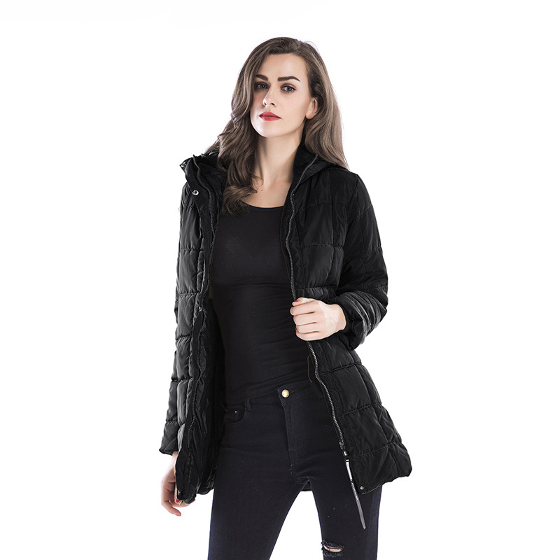 Parkas Women Jackets Coats Winter Overcoats Long Slim Warm Long Solid Womens clothes Hat Thick Windproof Fashion Casual MOOWNUC in Parkas from Women 39 s Clothing