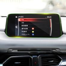 Стайлинга автомобилей GPS навигации Экран закаленное Сталь защитный Плёнки для Mazda CX-5 CX5 CX 5 2017 2018 Управление из ЖК-дисплей экран Sticke
