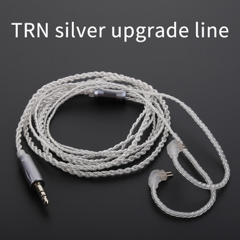 TRN V10 Replacement Cable 3.5mm/2.5mm 2Pin/MMCX Upgraded Plated Silver Cable For TRN V80/V60/V20 SE846 QT2 HQ8 QT5 фото