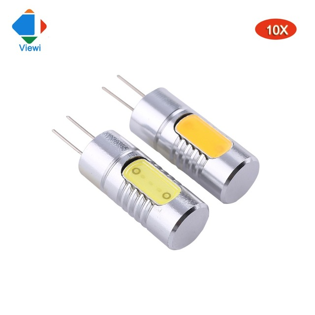 Viewi 10x Lampe Led Bulbs 12v G4 1 5w High Quality Mini Aluminum