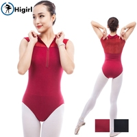 Free Shipping Kids Dance Leotards Red Ballet Leotard Cotton Material Dance Girls Ballet Training Wear