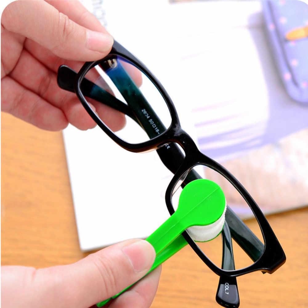 サングラス眼鏡マイクロファイバー眼鏡クリーナーブラシ洗浄ツールマジッククリーニングブラシが容易にクリーン洗浄ブラシ