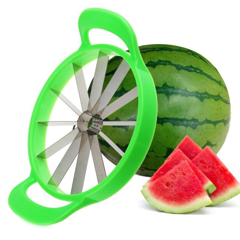 Creative Kitchen Watermelon Cutter Stainless Steel Fruit Cutting Slicer Cantaloupe Knife Fruit Cutter for kitchen accessories