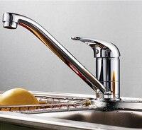 Wholesale And Retail Newly Kitchen Flexible Mixer Taps Chrome Brass Faucets Single Hole Faucet Crane 1150C