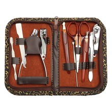 Set 10 in1 Pedicure/Manicure Nail Grooming Stainless Steel Kit Case Tool