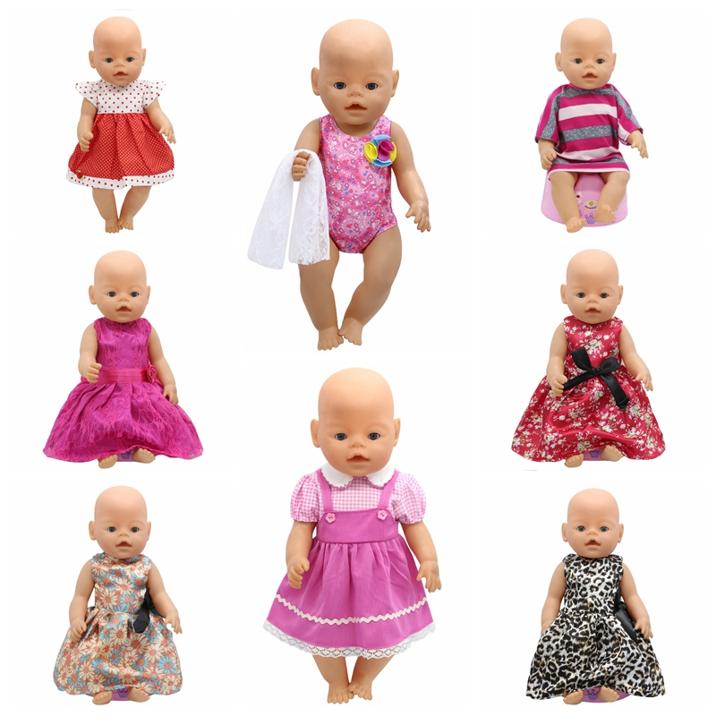 Baby Born Doll Accessories 15 Styles Princess Dress Doll Cothes fit 43cm Baby Born Zapf Doll Clothes Birthday Gift D5 zapf baby born doll clothes 15 styles bowknot princess skirt dress fit 43cm zapf baby born doll accessories girl gift x 171