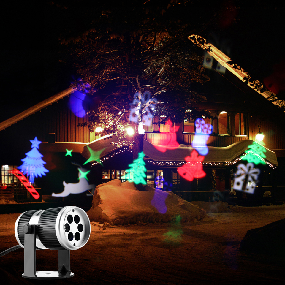 4 types christmas led projector light disco dj activated moving dynamic snowflake rgb halloween christmas decorations for home in stage lighting effect from - Moving Christmas Decorations