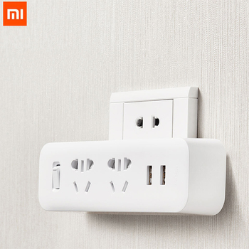 Original Xiaomi Mijia Power Strip Converter Portable Plug Travel Adapter for Home Office 5V 2.1A 2 Sockets 2 USB Fast Charging Electrical Plug