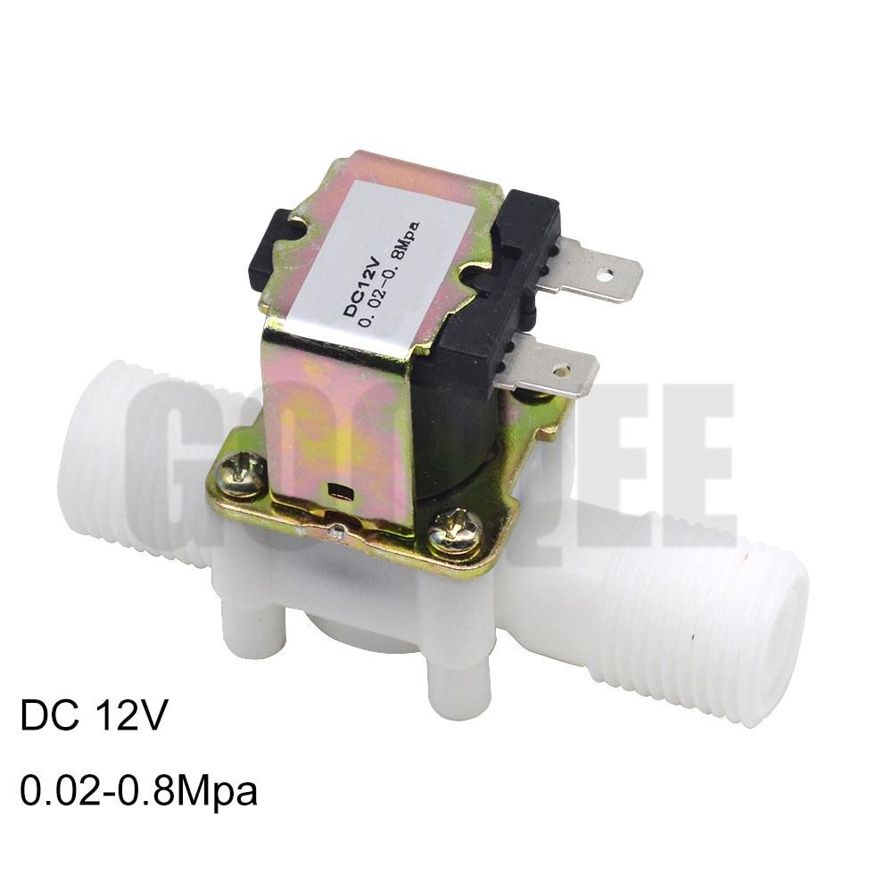 "1/2"" Plastic Solenoid Valve 12V 24V 220V Magnetic Washing Machine Dispenser Drinking Water Pneumatic Pressure Controller Switch 1"