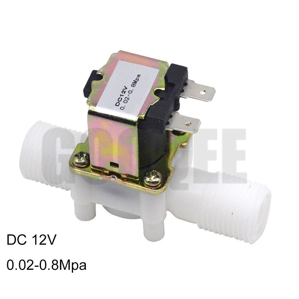 1/2 électrovanne en plastique 12 V 24 V 220 V distributeur de Machine à laver magnétique eau potable régulateur de pression pneumatique commutateur
