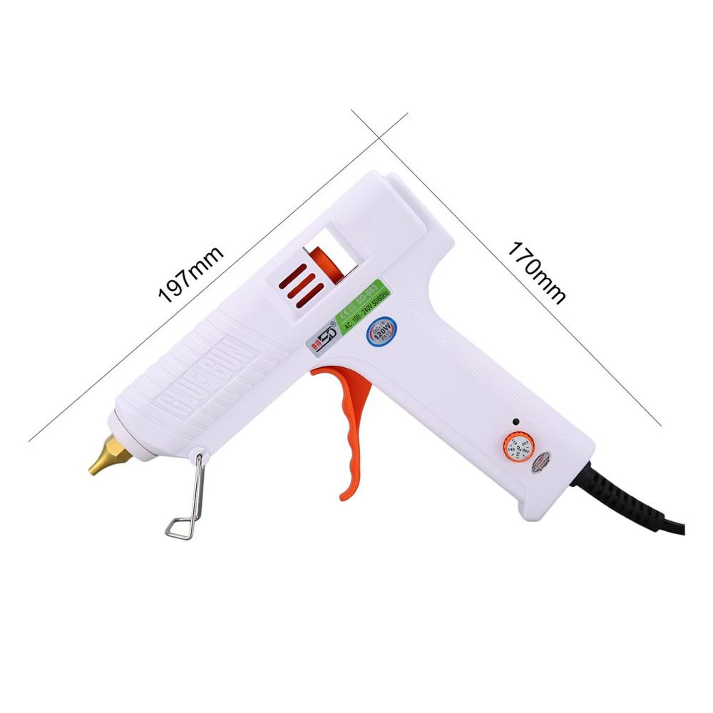 120W Adjustable Hot Melt Glue Gun Heat Guns for DIY Handwork Toy Repair Tools Electric Heat Temperature Glue Guns