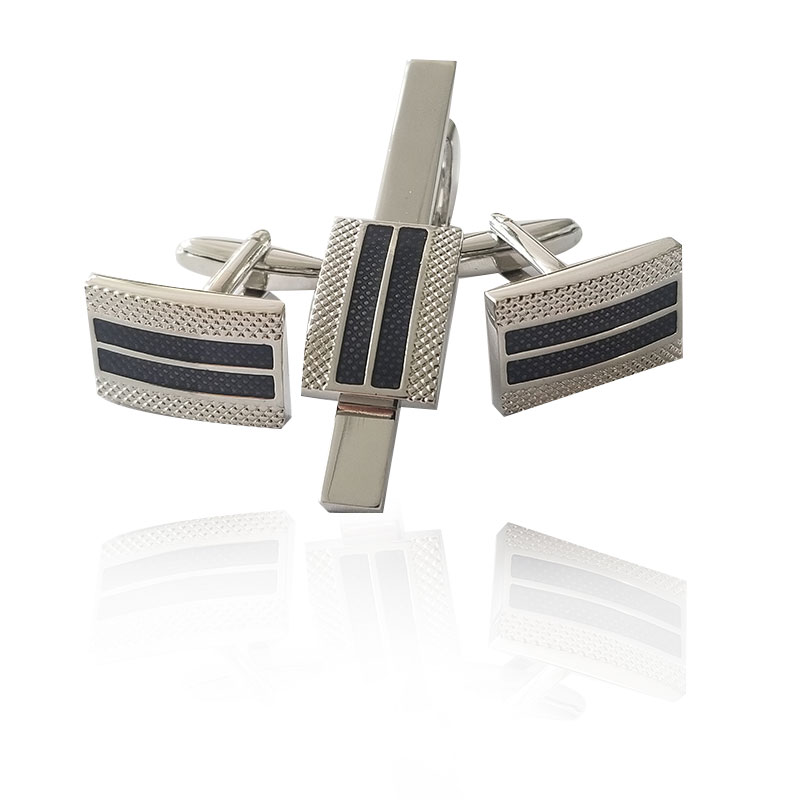 Luxury Tie Clips & Cufflinks for Mens Silver Ship Anchor Cufflink And Clip Sets Man French Shirt Button High Quality Jewelry
