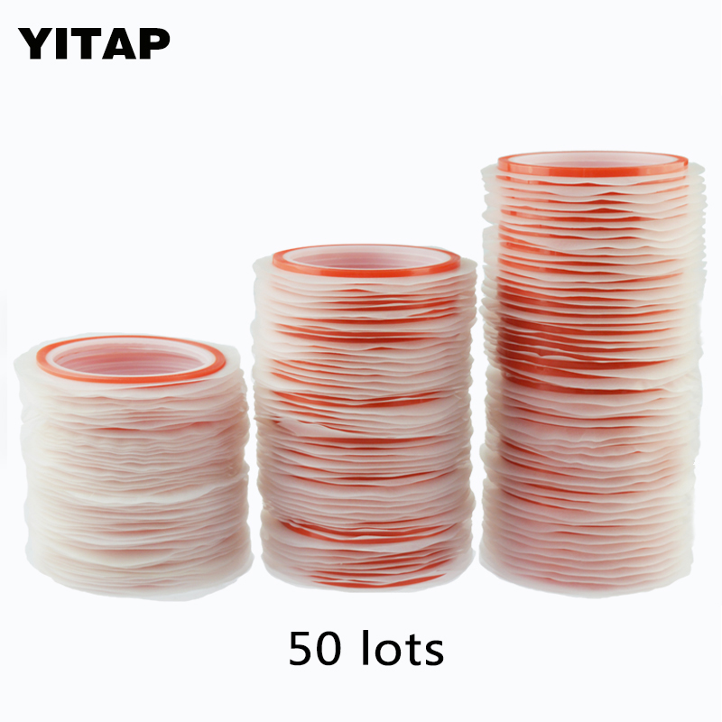 YITAP 50/lot Double Side PET double sided adhesive tape For LCD Screen Double Sided Tape warm comfortable love lines double sided pet blankets