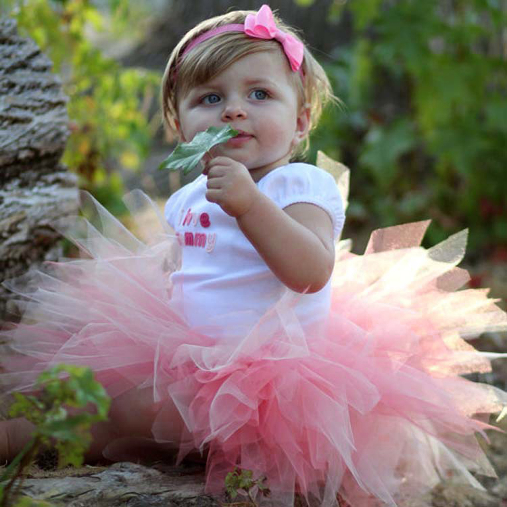 Newborn Infant Baby Girls Clothes Photo Props Girls Princess Bubble Tutu Skirt with Bowknot Headband Outfit Kids Clothing Set
