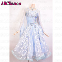 Ballroom Dancing Dress Woman Modern Waltz Tango Dance Dress/standard Ballroom Competition Costume hand made