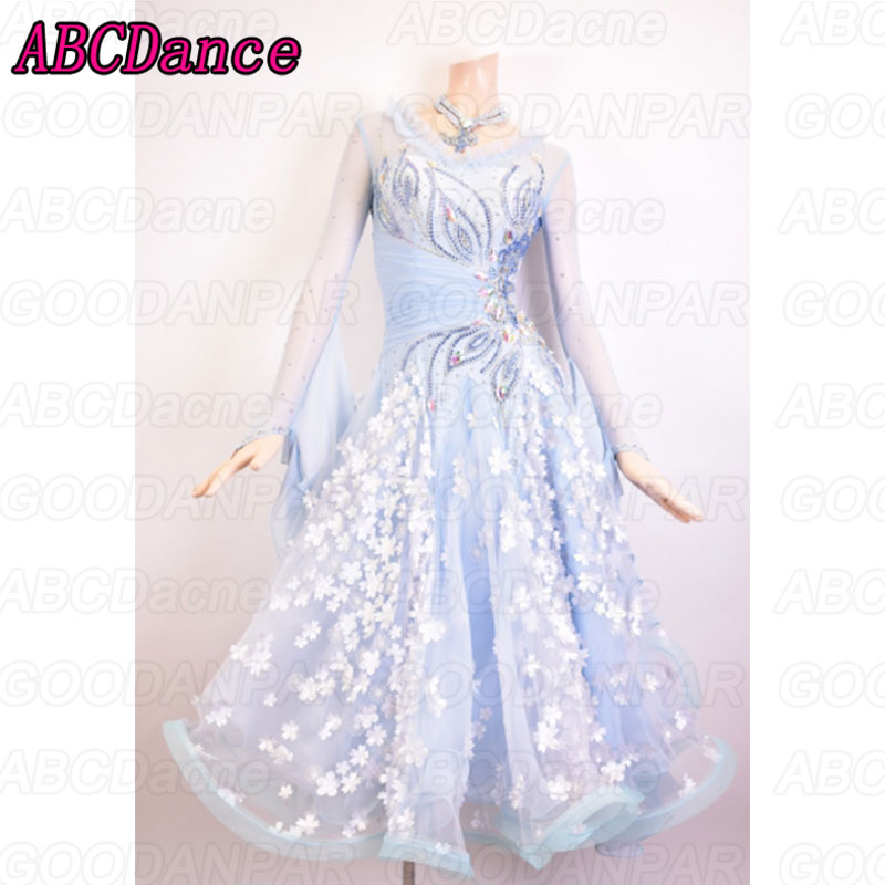 Ballroom Dancing Dress Woman Modern Waltz Tango Dance Dress/standard Ballroom Competition Costume hand-made