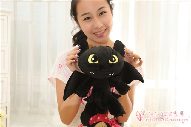 How to Train Your Dragon large 42cm Toothless plush toy ,birthday gift h985 how to train your dragon 2 dragon toothless night fury action figure pvc doll 4 styles 25 37cm free shipping retail