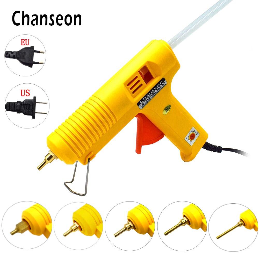 Chanseon 150W EU/US Plug Hot Melt Glue Gun Smart Adjustable Temperature Optional Copper Nozzle Crafts Hot Melting Gun Hand tool цена