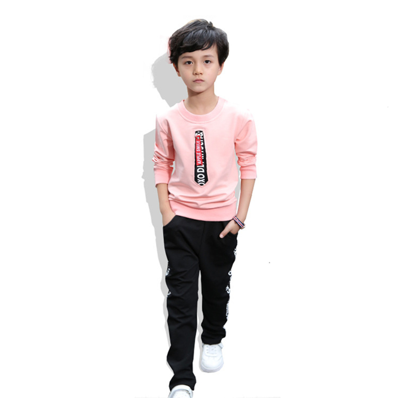 Fashion Children Boys Girls Clothes Baby T-shirt Pants 2Pcs/Sets 2018 Spring Autumn Kids Clothing Suits Young Tracksuit 4-10 Yrs malayu baby kids clothing sets baby boys girls cartoon elephant cotton set autumn children clothes child t shirt pants suit