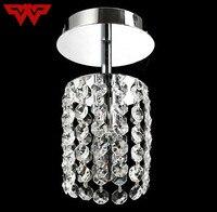 Energy Saving LED Luxury Crystal Chandelier Simple Small Aisle Stair Hallway K9 Ceiling Lamp