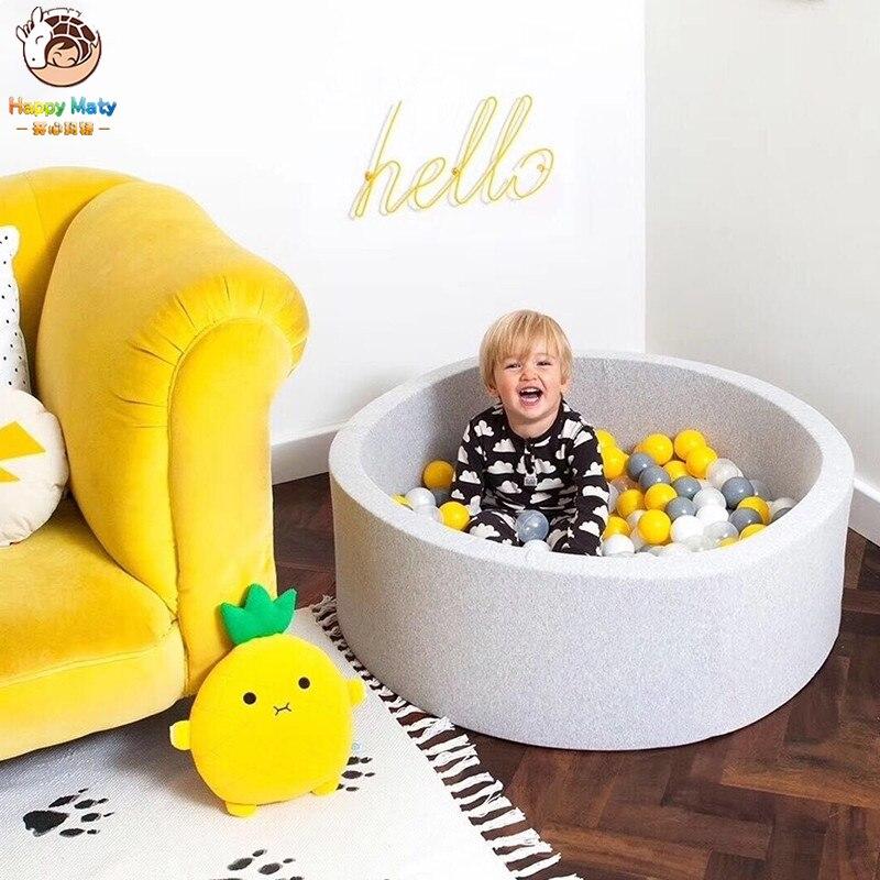 Happymaty piscine de jeu ronde bébé fosse à balles infantile océan piscine à balles drôle aire de jeux jeux d'intérieur piscine sèche décoration chambre d'enfants