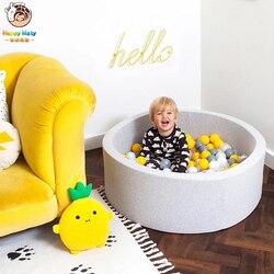 Happymaty round jogar piscina bebê bola pit infantil oceano bola piscina engraçado playground indoor jogos piscina seca decoração do quarto das crianças