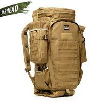911 Military Combined Backpack 60L Large Capacity Multifunction Rifle Rucksacks Men Travel Trekking Tactical Assault Knapsack