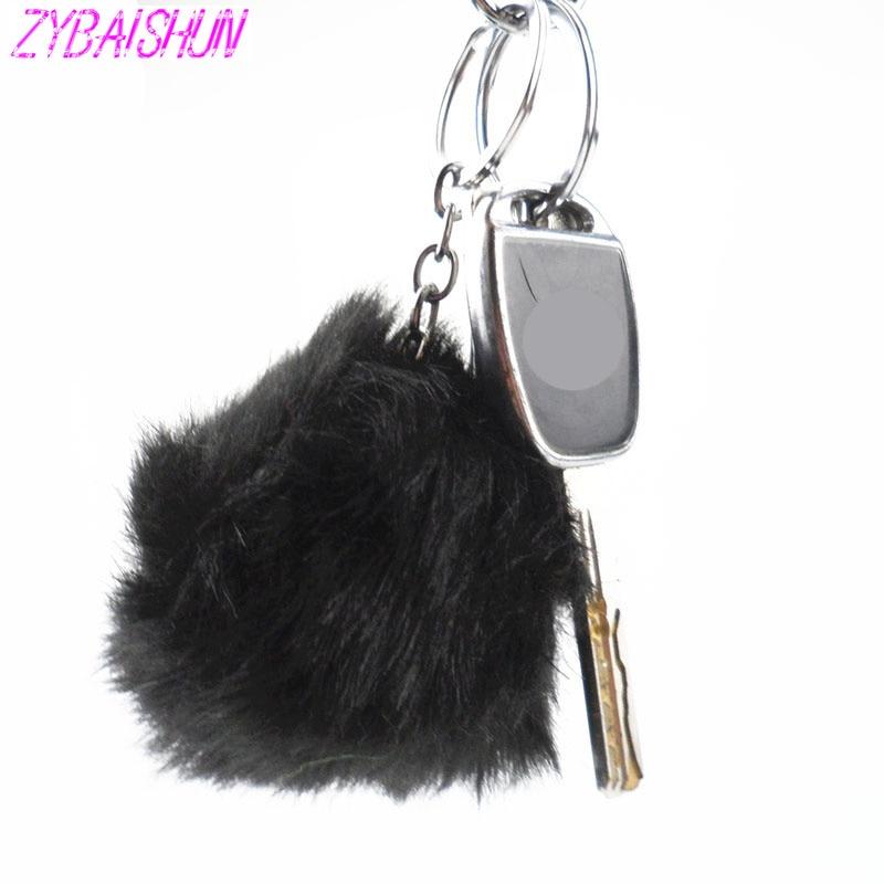 2018 простой волос плюшевая игрушка мяч помпонами имитация кролика плюшевые брелок для BMW Все серии 1 2 3 4 5 6 7 X E серии F E46 E90 X1