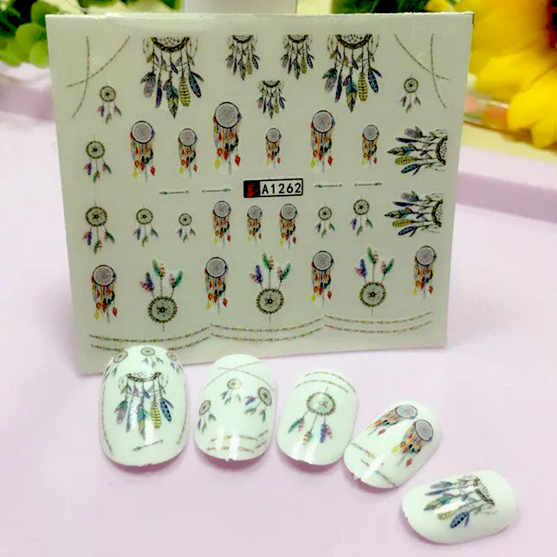 2017 New Dream Catcher Water Transfer Nail Art Sticker Water Decals DIY  Decoration For Beauty Nail Tools A1262 2017 spring and autumn hot selling women s comfortable diabetic shoes foot swollen foot care shoe breathable flat bunion shoes