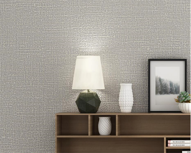 modern plain pure color non wovens 3d wallpaper roll for walls