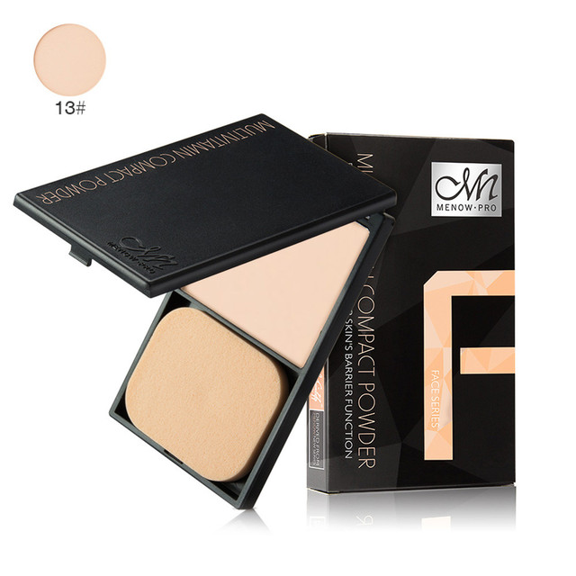 MENOW Brand Wet Dry Dual-use Smooth Skin Face Finishing Loose Pressed Powder Foundation Beauty Makeup Cosmetic maquiagem