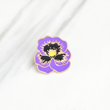 New Metal Enameled Mothers Day Purple Flower Violet Hard Enamel Brooches Kawaii Pins Brooches For Children Gifts
