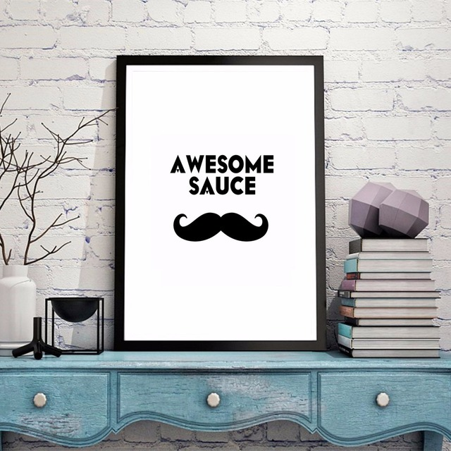 Charmant Minimalist Mustache And Glasses Canvas Art Print Painting Poster Wall  Pictures For Room Home Decoration Wall