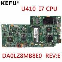 KEFU DA0LZ8MB8E0 REV: E для lenovo Ideapad U410 Материнская плата ноутбука DA0LZ8MB8E0 REV: E I7 Процессор полностью Тесты mothrboard