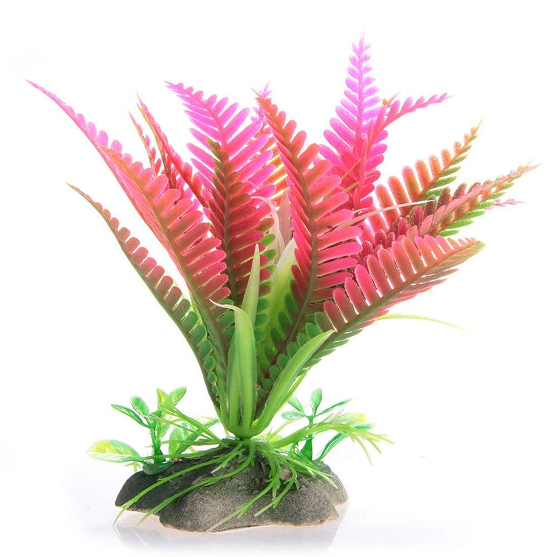 Plastic Simulation Plant Artificial Succulents Christmas Flowers Aquarium Ornament Plastic
