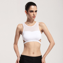 WX105 Women Fitness Yoga Sports Bra For Running Gym Padded Wire free Shake proof Underwear Push Up patchwork Fitness Top Bras
