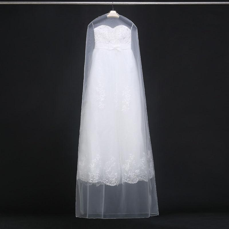 160cm 180cm Transparent Wedding Dress Dust Cover Soft Tulle Garment