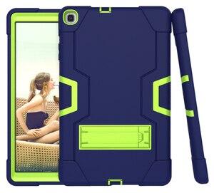 Image 4 - Dành Cho Samsung Galaxy Tab A 10.1 2019 Bao T510 T515 SM T510 SM T515 Chống Sốc Silicon Đứng Coque Funda + Dán Màn Hình tấm Bảo Vệ