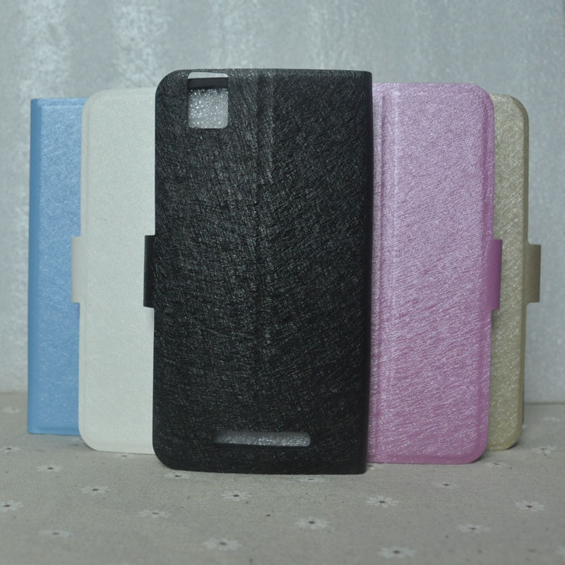 For Highscreen Easy L Pro Case PU Leather Fashion Silk Pattern <font><b>Smartphone</b></font> Cover For Highscreen Easy L Cover