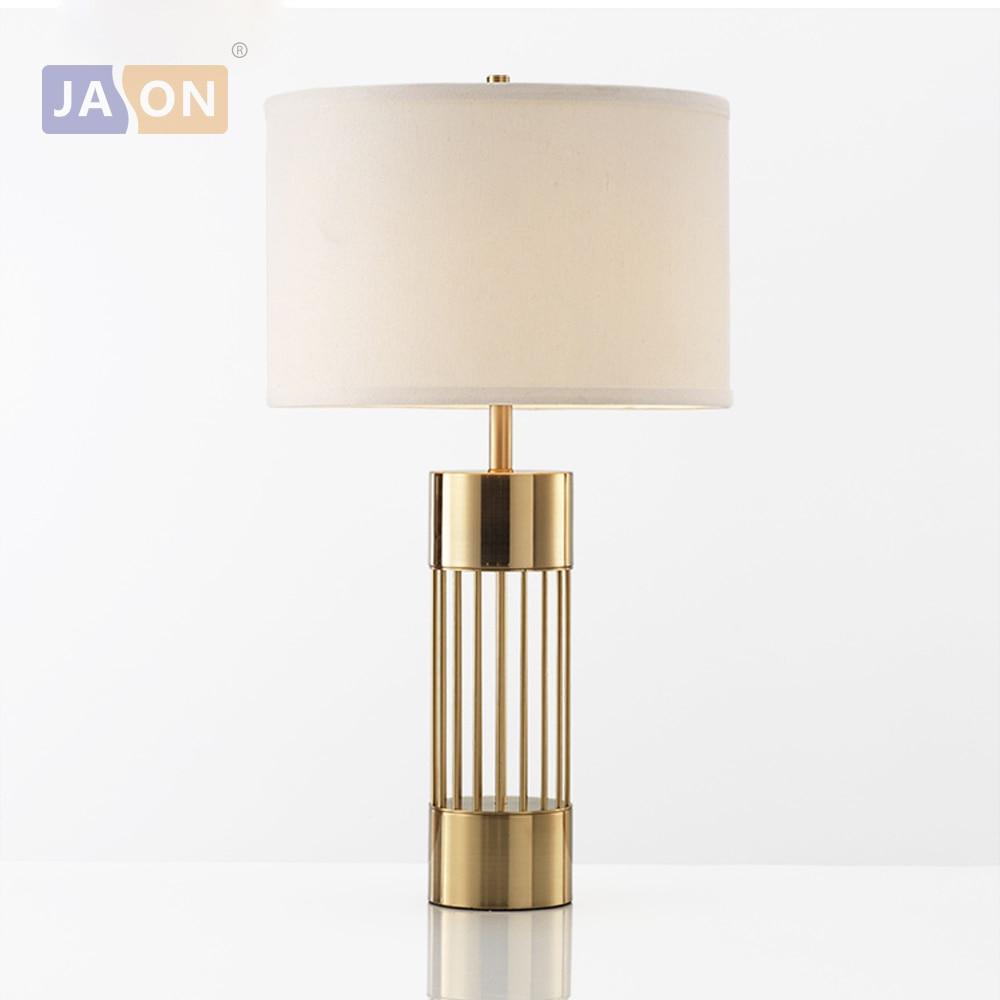 LED e27 Postmodern fer tissu doré lampe à LED. Lumière LED. Lampe de Table. Lampe de bureau. LED lampe de bureau pour Foyer de chambre-in LED Lampes de Table from Lampes et éclairages on alikolialighting Store