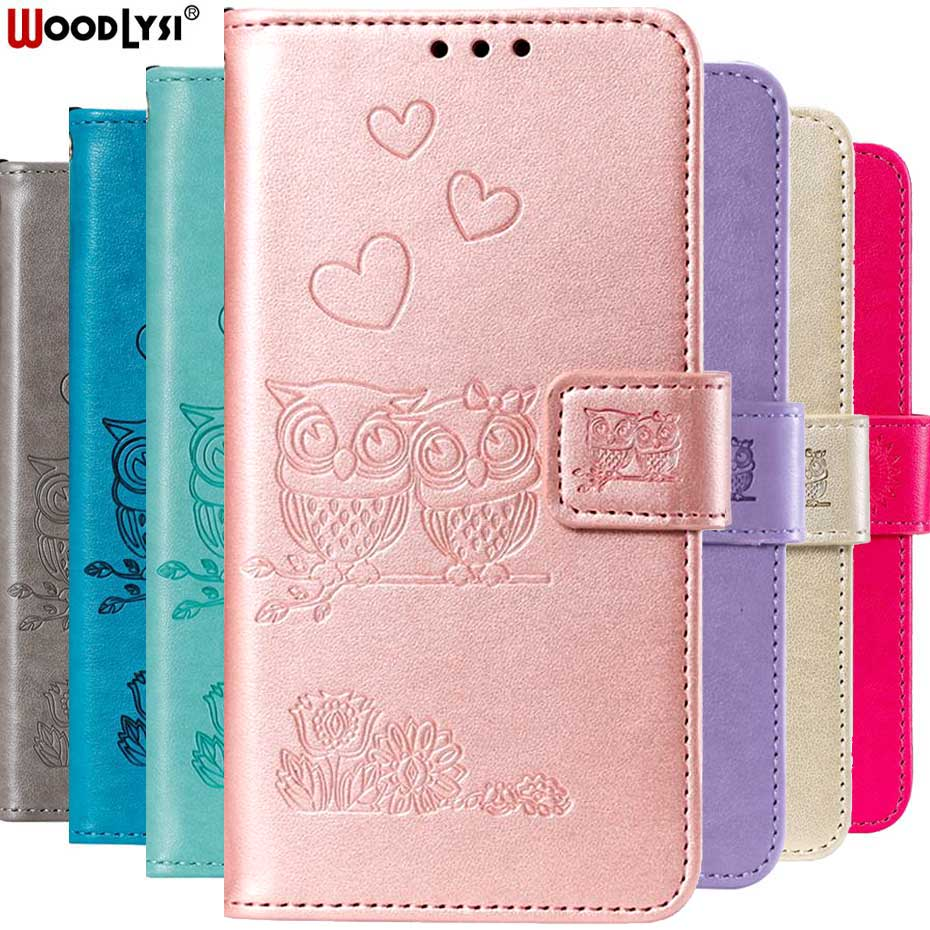 3D Owl <font><b>Flip</b></font> Leather <font><b>Case</b></font> For <font><b>Samsung</b></font> Galaxy S10 e S5 S6 S7 S8 S9 Plus Edge A10 A30 A40 A50 A70 M10 M20 A90 <font><b>A80</b></font> Wallet Cover Capa image