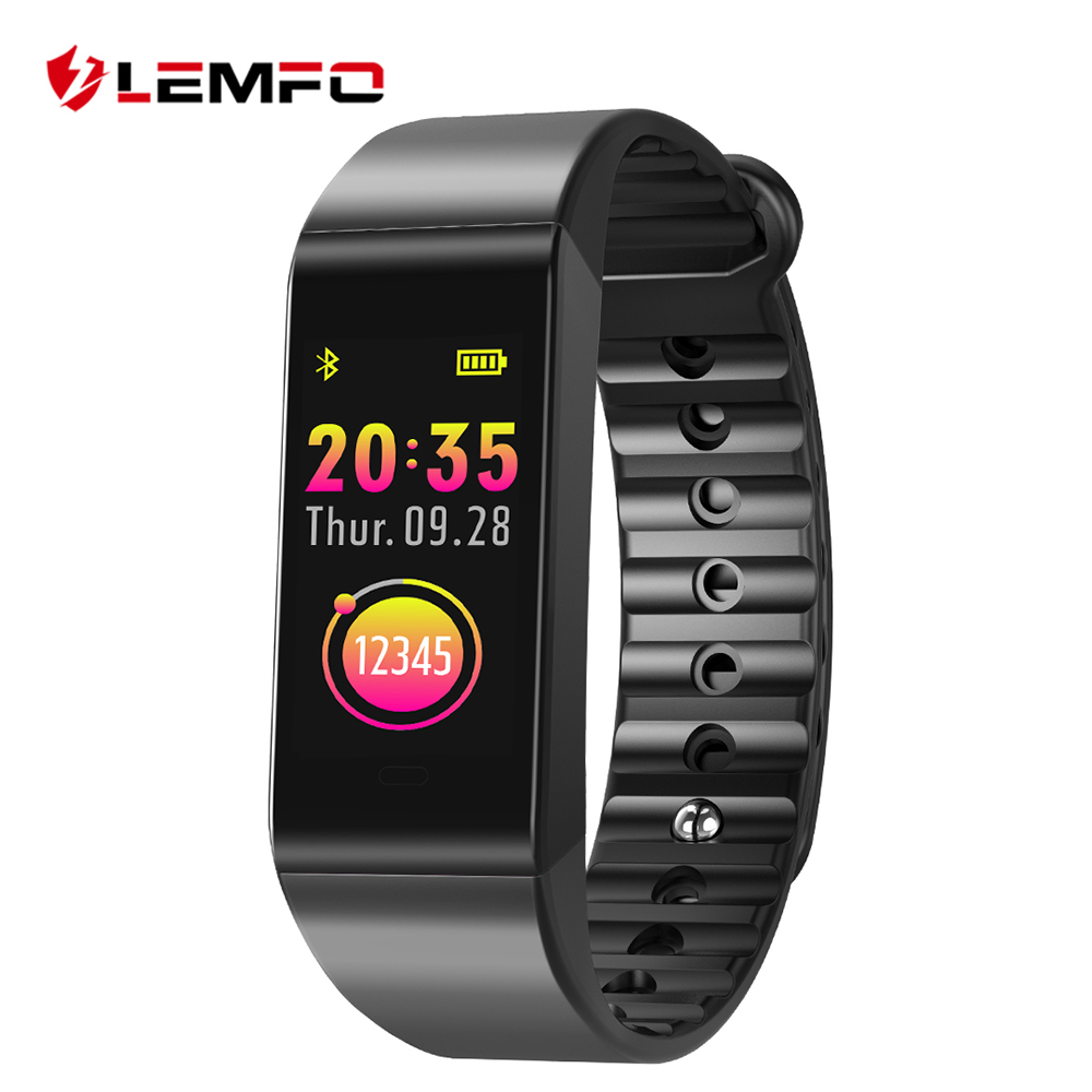 LEMFO Smart Wristbands Fitness Armband IP67 Wasserdicht Pulsmesser Fitness Armband Blutdruck für IOS Android-Handy