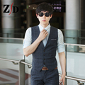 Hot 2016 New Men's vest suit vest vest men cultivating business casual fashion brand vest