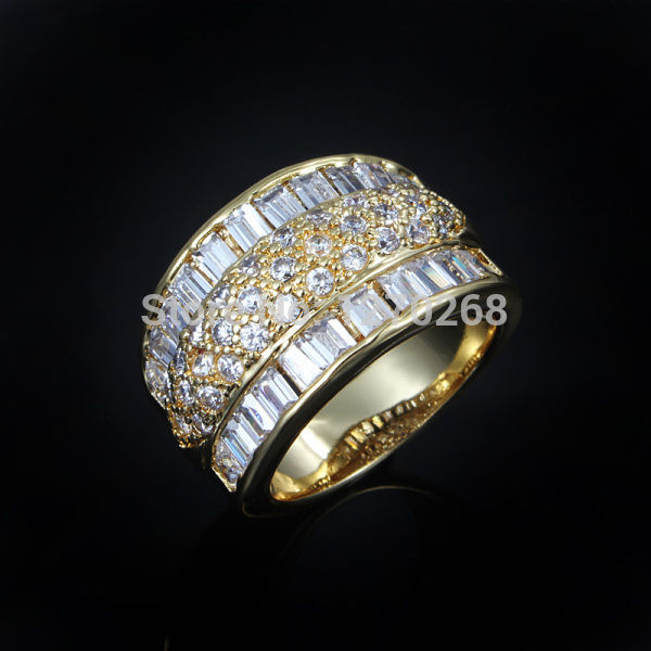 Fashion party jewelry  gold plated ring with Zircon Top quality beautiful birthday gift for woman Jmiya brand R526