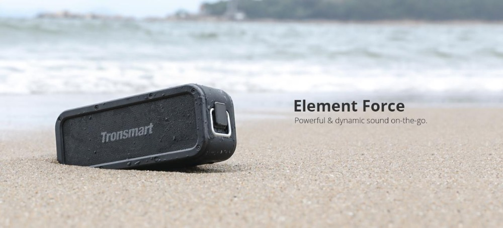 Tronsmart Element Force Bluetooth Speaker IPX7 Waterproof Portable Speaker 40W Computer Speakers 15H Playtime with Subwoofer,NFC 00