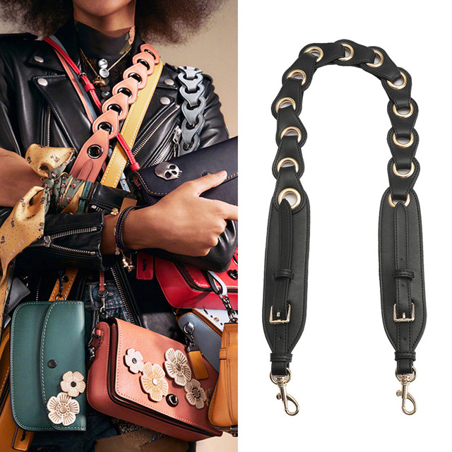 c4cef75182d7 Designer Women Bag Accessories Strap You Women Bag Strap Leather Rivet Shoulder  Strap New Arrival Famous