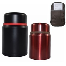 0.8L 304 Stainless Steel Insulated cup Food Container Vacuum Lunch Box Thermos for Kids with christmas